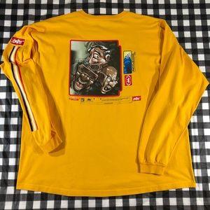JNCO Jeans Yellow Vintage Streetwear Long Sleeves